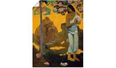 Artland Wandbild »Frau mit Frühlingsblüten« kaufen