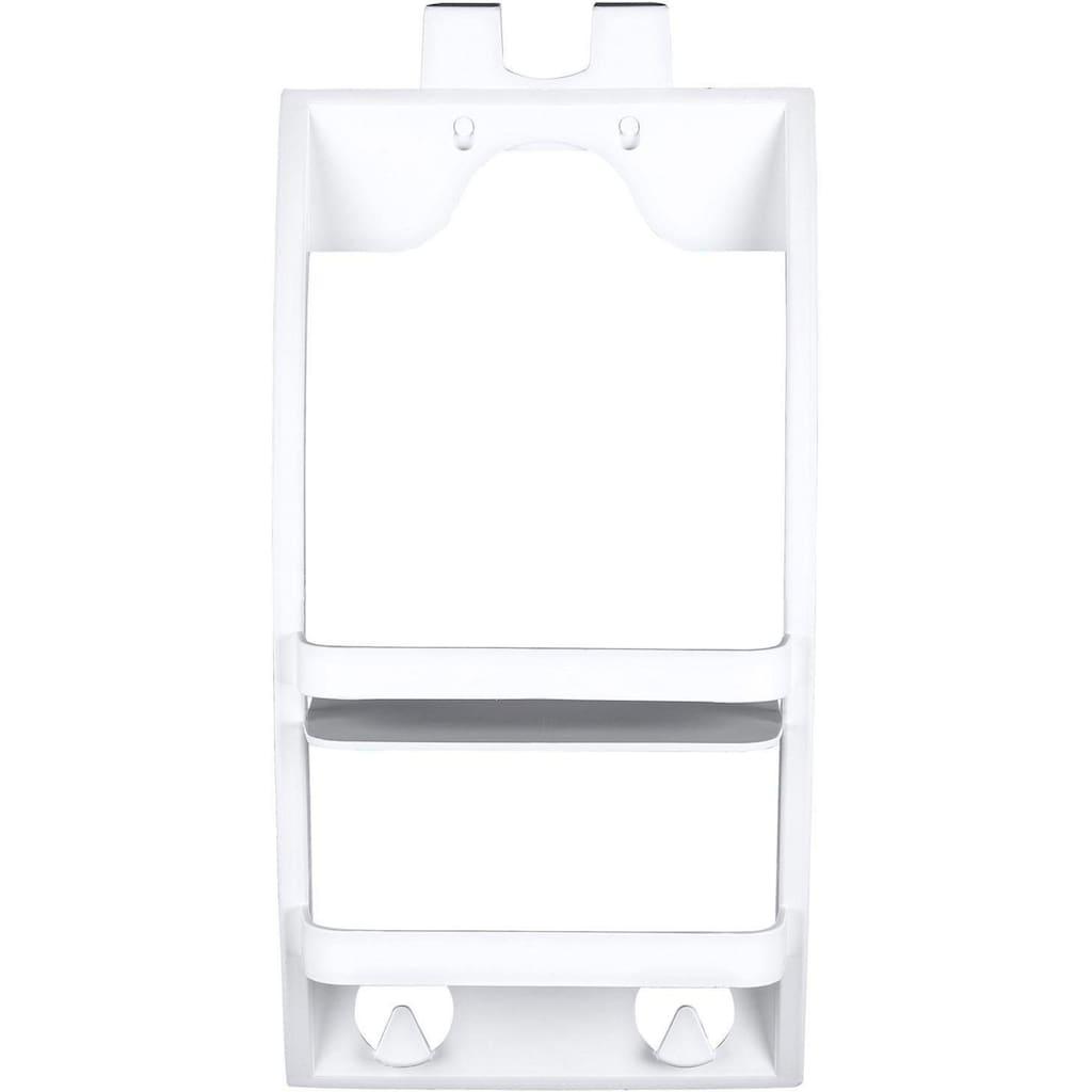 WENKO Badregal »Universal«, ABlagefläche mit Handtuchhaken, zum Einhägen