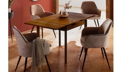 Home affaire Esstisch »Tirza«, aus massiver Kiefer, mit Auszugsfunktion in zwei Breiten kaufen