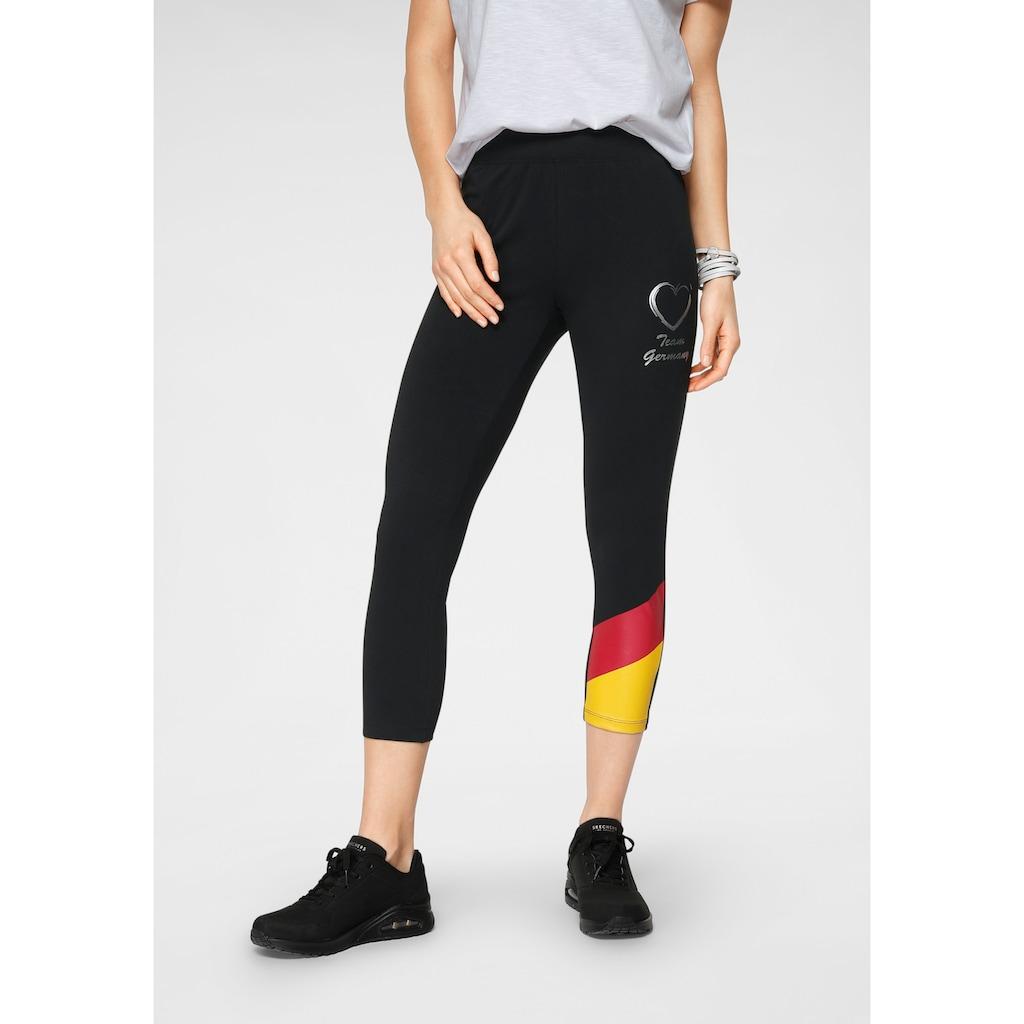STOOKER WOMEN Leggings »Pisa«, im Tricolore Design, die perfekte Fan-Leggings