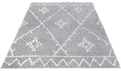 LUXOR living Hochflor-Teppich »Pula 79810«, rechteckig, 35 mm Höhe, Rauten Design,... kaufen