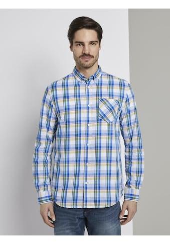 TOM TAILOR Flanellhemd »Kariertes Hemd« kaufen