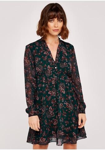 Apricot Druckkleid »Paisley Long Sleeve Ruffle Dress«, mit Rüschen kaufen