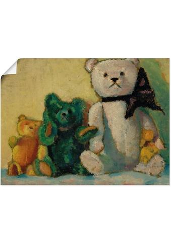 Artland Wandbild »Die Bärenfamilie. 1926«, Spielzeuge, (1 St.), in vielen Größen &... kaufen