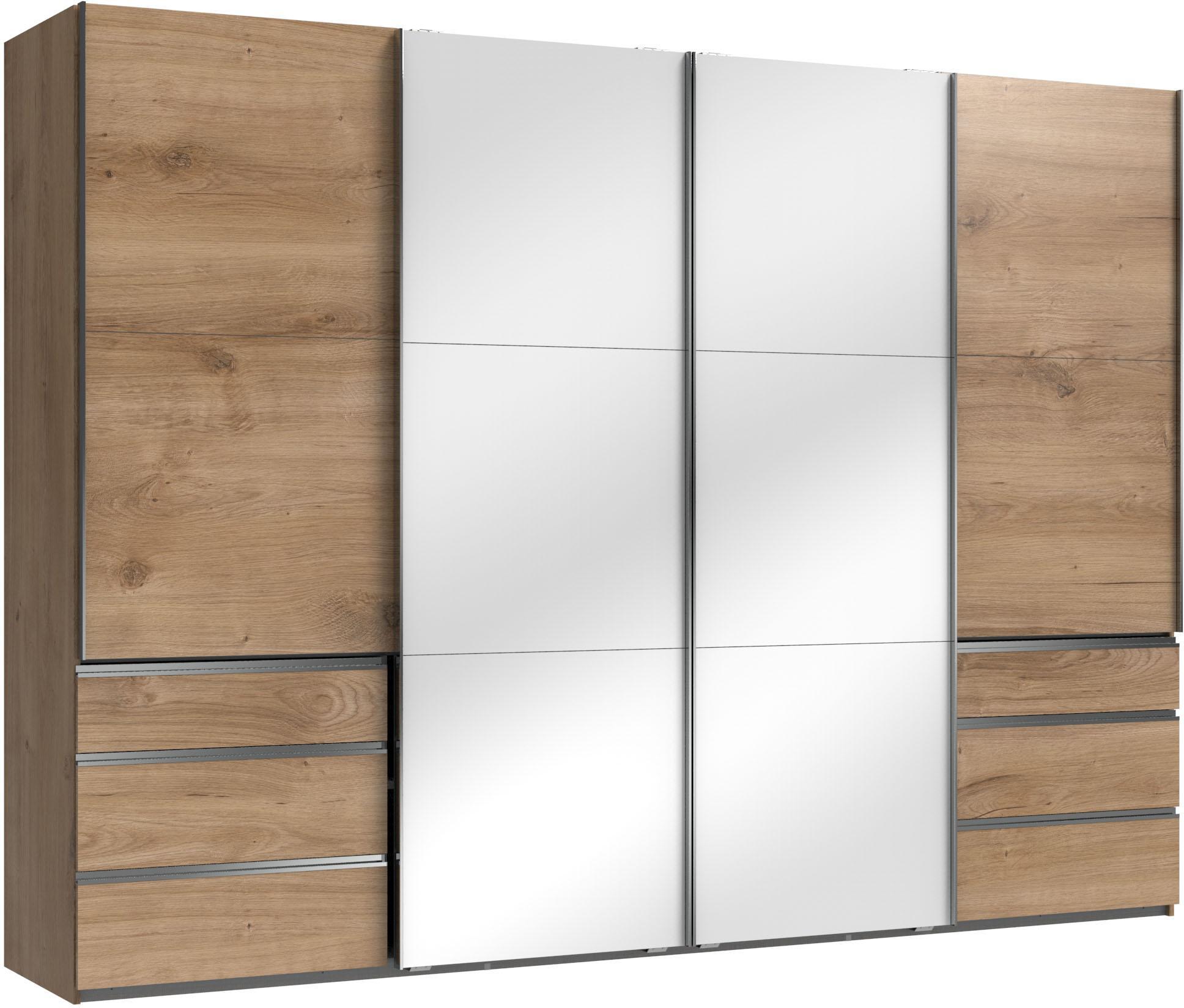 Fresh To Go Schwebetürenschrank Level mit Glastüren und Synchronöffnung | Schlafzimmer > Kleiderschränke > Schwebetürenschränke | Glas - Leinen | Fresh To Go