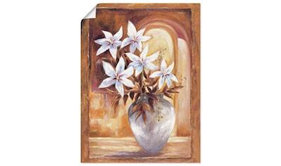 Artland Wandbild »Weiße Blumen in Vase II« kaufen