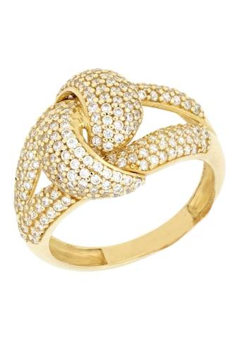 Firetti Goldring »Knoten, glänzend«, mit Zirkonia kaufen