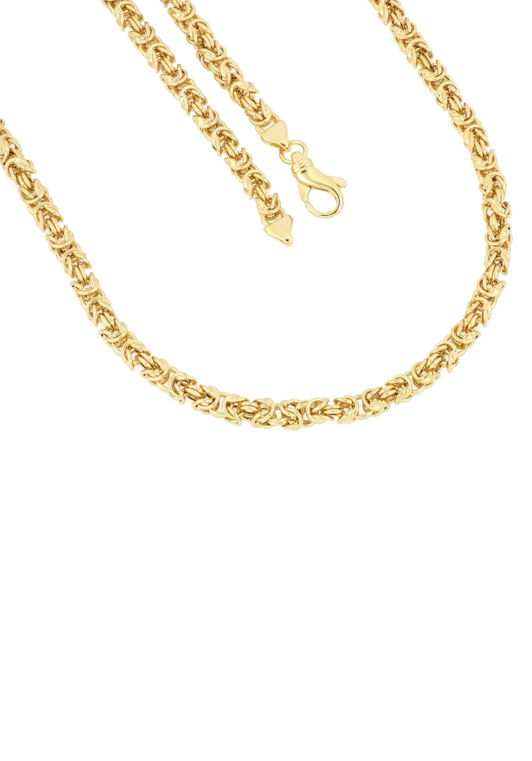 Firetti Kette ohne Anhänger in Königskettengliederung 50 mm glänzend vergoldet quadratisch | Schmuck > Halsketten | Firetti
