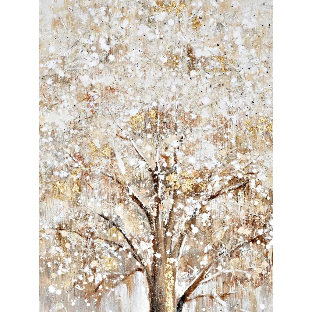 Originalgemälde Baum mit strukturierter Oberfläche