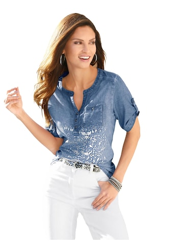 Inspirationen Shirt in der angesagten »oil dyed« - Waschung kaufen