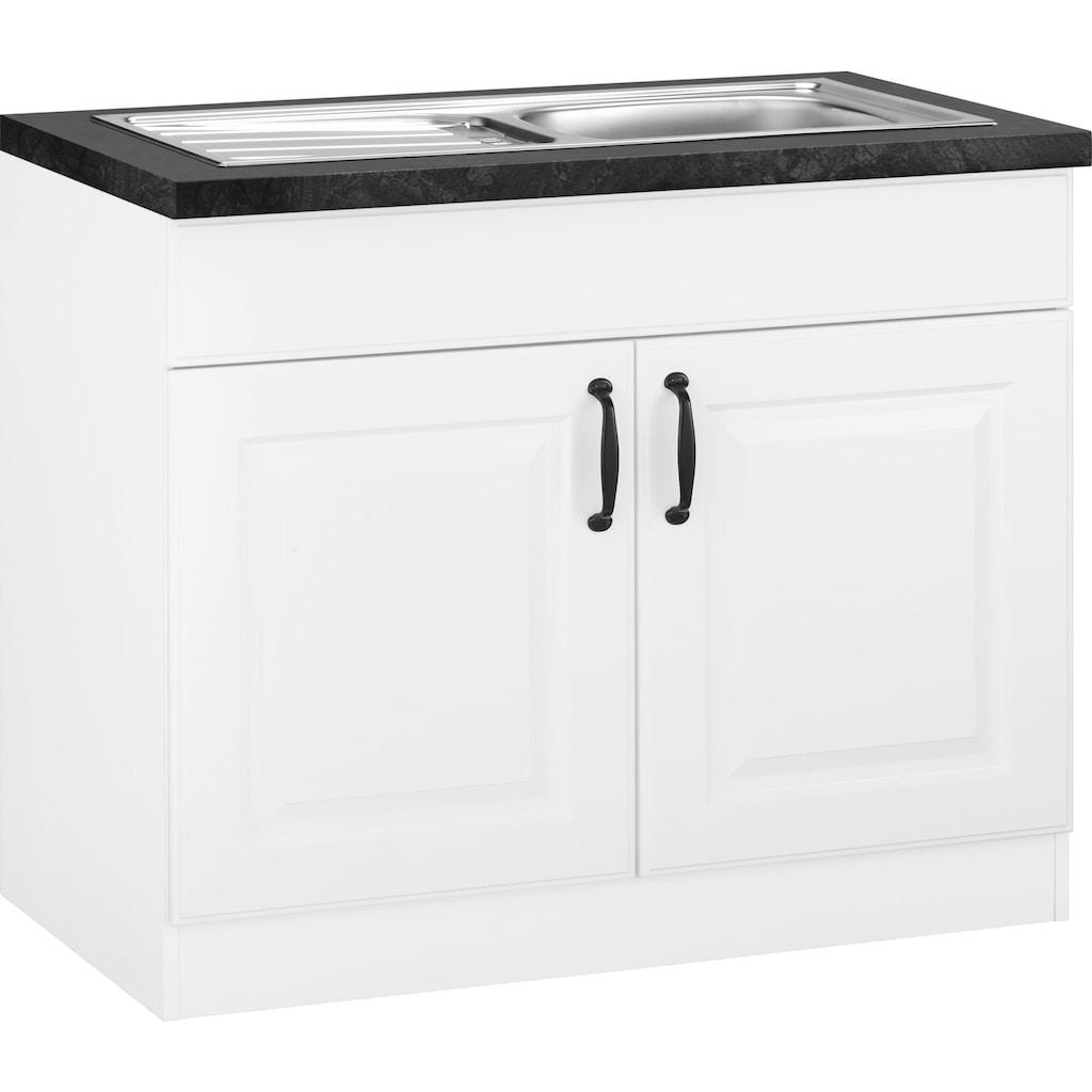 wiho Küchen Spülenschrank »Erla«, 100 cm breit mit Kassettenfront
