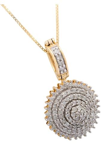 Firetti Kette mit Anhänger »glamourös rund«, mit Diamanten kaufen