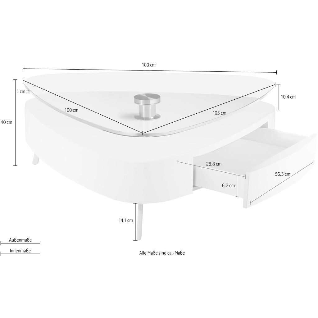 andas Couchtisch »Edla«, Design by Morten Georgsen, drehbare Tischplatte, in 2 modernen Farben