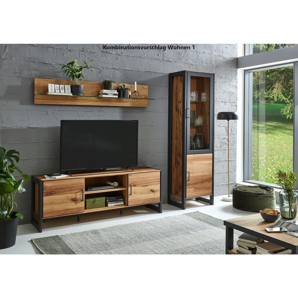 Relita Lowboard »Montana«, mit interessant gemasertem Holzfurnier, Fernsehtisch im Industrial Design