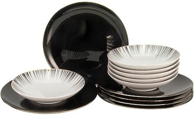 """CreaTable Tafelservice """"Enjoy Black Style"""" (12 - tlg.), Porzellan kaufen"""
