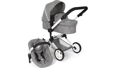 CHIC2000 Kombi-Puppenwagen »Linus, jeans grey«, mit Babywanne und Autositz kaufen