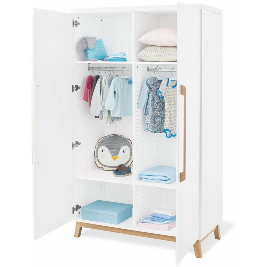 Pinolino® Babyzimmer-Komplettset »Riva«, (Set, 3 St.), breit; mit Kinderbett, Schrank und Wickelkommode