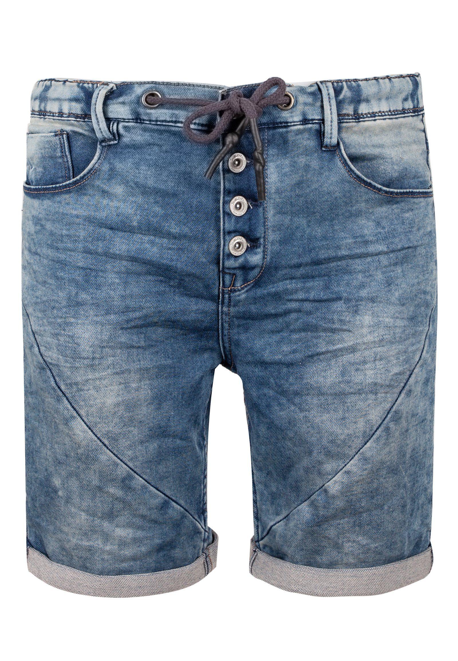 SUBLEVEL Sweatjeansbermudas | Bekleidung > Shorts & Bermudas > Jeans Bermudas | Blau | Denim - Jeans | Sublevel