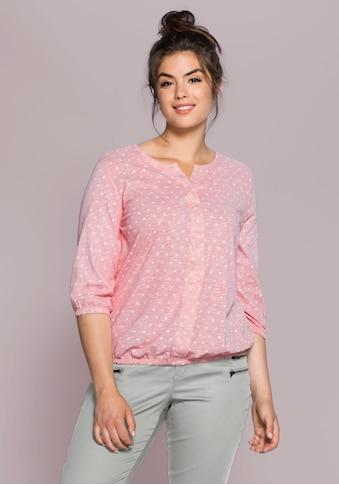 Sheego Blusenshirt, mit Minimal-Print kaufen