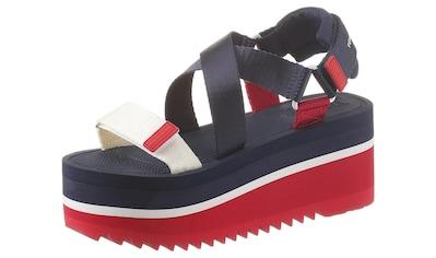 TOMMY JEANS Sandalette »POP COLOR FLATFORM SANDAL« kaufen
