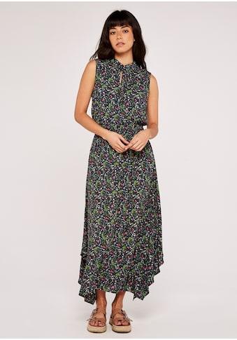 Apricot Maxikleid »Ab Floral Smock Hankyhem Dress«, mit Schlüssellochausschnitt kaufen