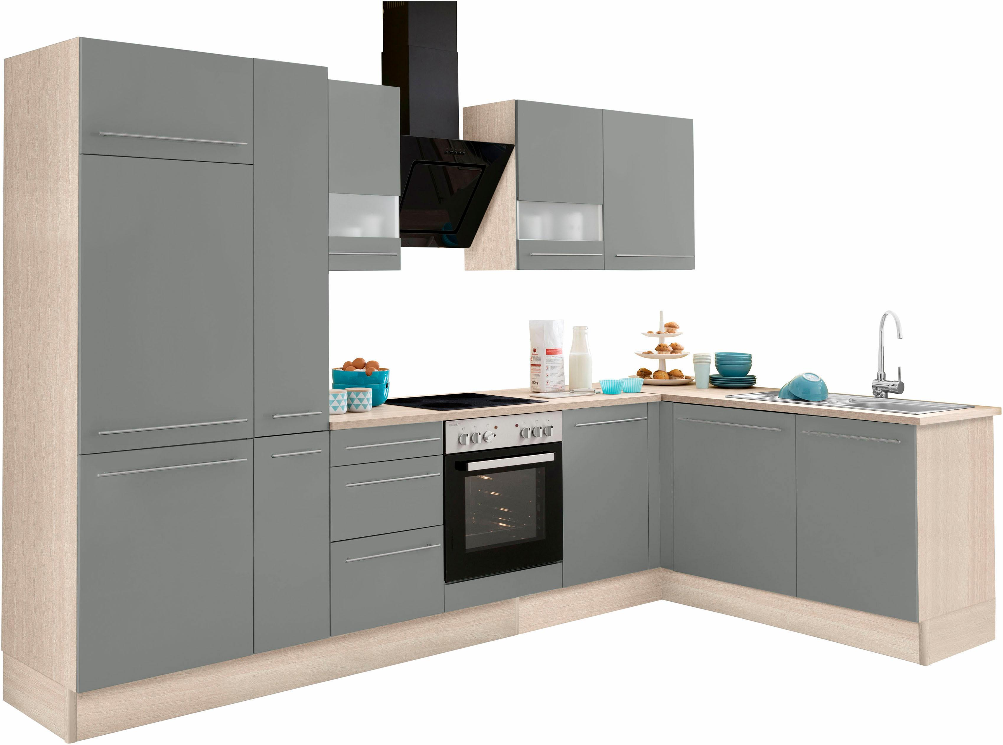 OPTIFIT Winkelküche Bern mit E-Geräten Stellbreite 315 x 175 cm