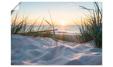 Artland Wandbild »Ostseestrand«, Strand, (1 St.), in vielen Größen & Produktarten - Alubild / Outdoorbild für den Außenbereich, Leinwandbild, Poster, Wandaufkleber / Wandtattoo auch für Badezimmer geeignet kaufen