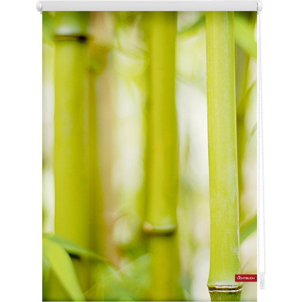 LICHTBLICK ORIGINAL Seitenzugrollo »Klemmfix Motiv Bambus«, Lichtschutz, ohne Bohren, freihängend, bedruckt