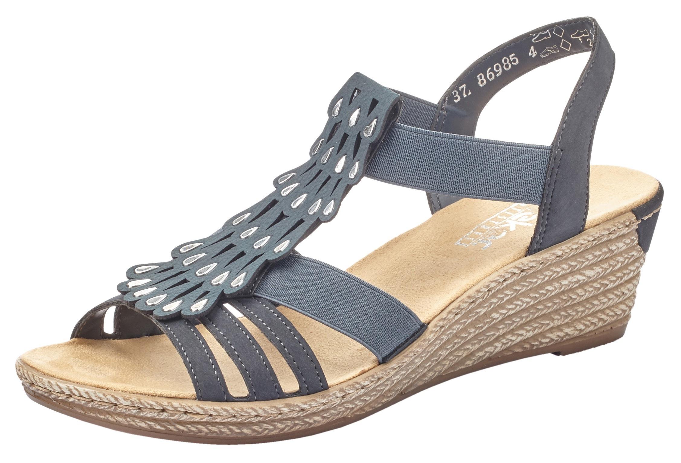 rieker -  Sandalette, mit Gummizüge, zum Schlupfen