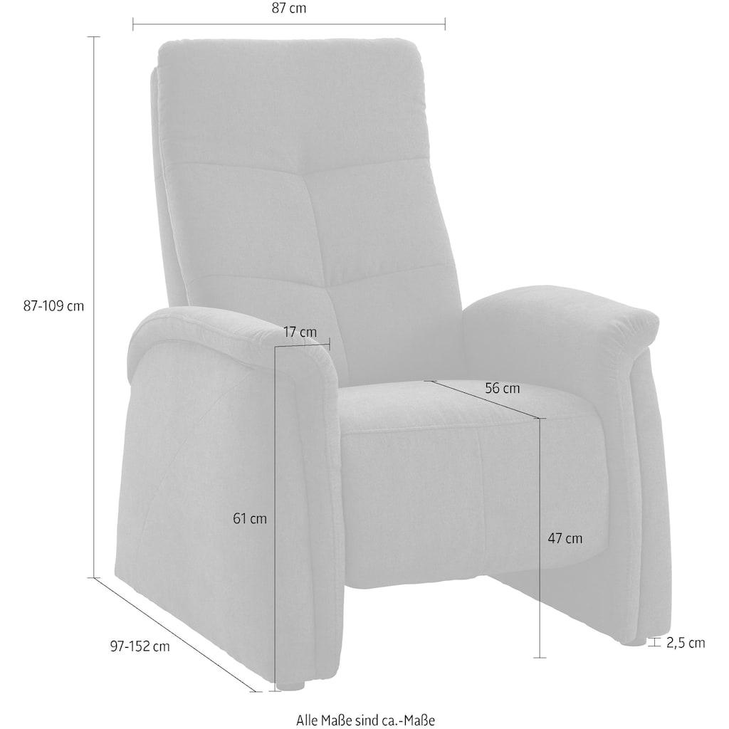 exxpo - sofa fashion Sessel, City Sofa,mit Relaxfunktion