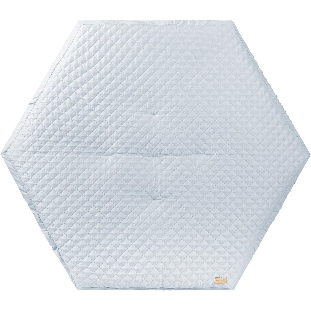 roba® Laufgitter »Style weiß, 6-eckig«, bis 15 kg, mit Laufgittereinlage hellblau/sky