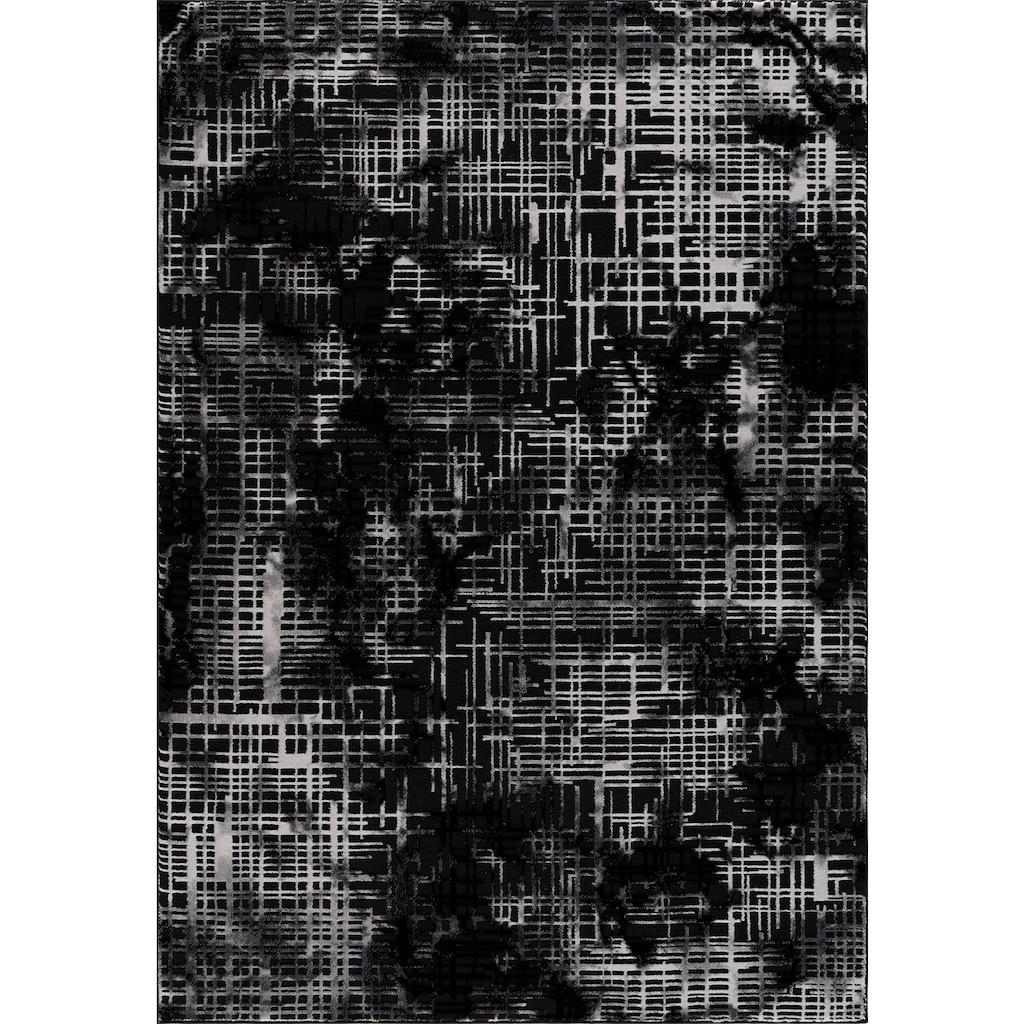 my home Teppich »Cansu«, rechteckig, 12 mm Höhe, Hoch-Tief-Effekt, Wohnzimmer