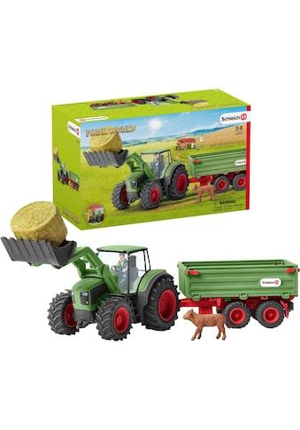 Schleich® Spielzeug-Traktor »Farm World, Traktor mit Anhänger (42379)«, Made in Germany kaufen