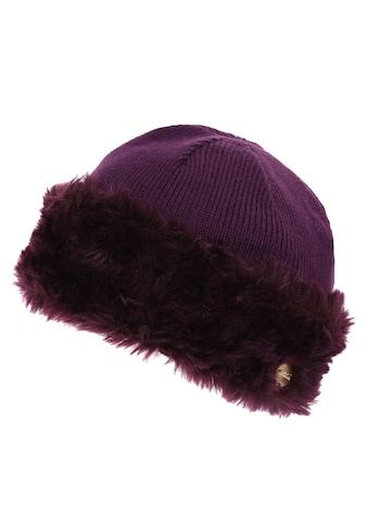 Regatta Strickmütze »Damen Baumwolljersey - Mütze Luz mit Kunstfell - Besatz« kaufen