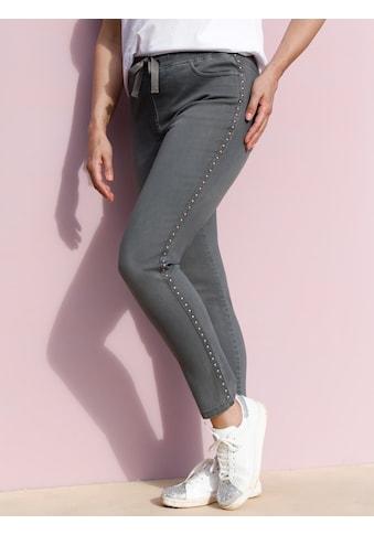 MIAMODA Jeansjeggings, mit Nietenband seitlich kaufen