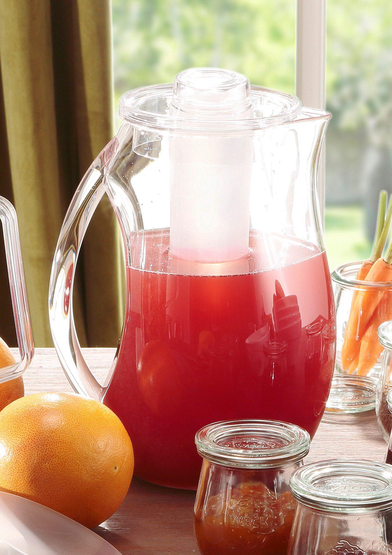 APS Wasserkaraffe, mit Eiswasser-Röhre farblos Karaffen Gläser Glaswaren Haushaltswaren Wasserkaraffe