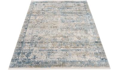 OCI DIE TEPPICHMARKE Teppich »Tradi«, rechteckig, 8 mm Höhe, Glanz Viskose, mit Fransen, Wohnzimmer kaufen