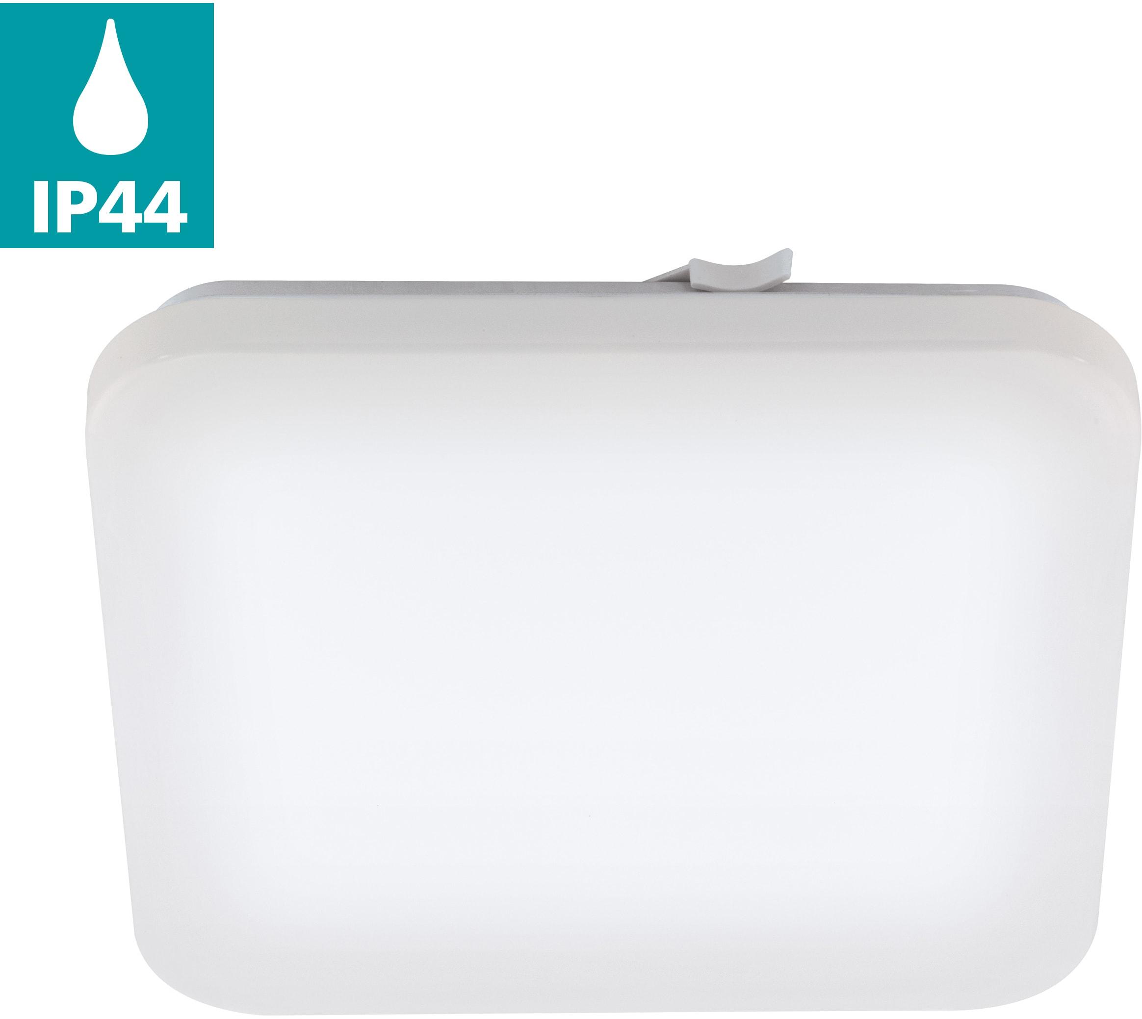 EGLO LED Deckenleuchte FRANIA, LED-Board, Warmweiß, Badleuchte, spritzwassergeschützt