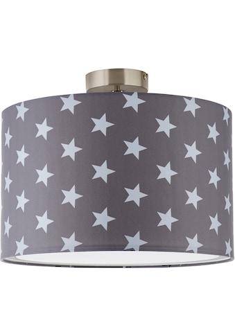 Lüttenhütt Deckenleuchte »Steern«, E27, Deckenlampe mit Sterne - Stoffschirm Ø 40 cm, grau / hellgrau, Höhe 32 cm kaufen