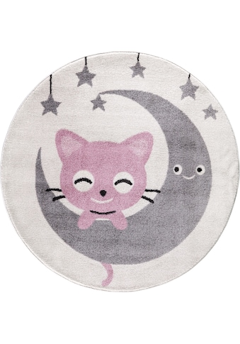 Kinderteppich, »Candy 152«, Festival, rund, Höhe 11 mm, maschinell gewebt kaufen