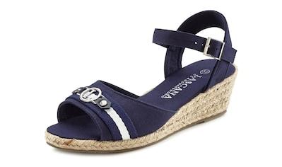 LASCANA Sandalette, mit Keilabsatz im maritimen Look kaufen