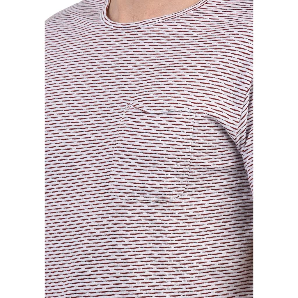 Indicode Rundhalsshirt »Albin«, Kurzarmshirt mit Brusttasche