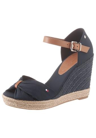 TOMMY HILFIGER High - Heel - Sandalette »BASIC OPENED TOE HIGH WEDGE« kaufen