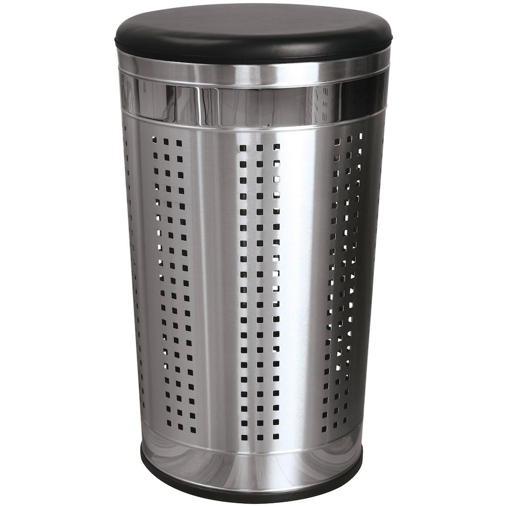 MSV Wäschekorb »Wäschetonne mit Sitzdeckel«, 36 x 36 x 60 cm