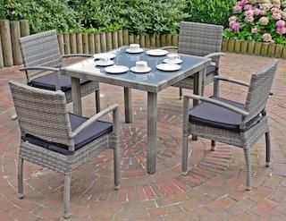 GARDEN PLEASURE Gartenmöbelset »MINSK«, 5 Tlg., 4 Stühle, Tisch