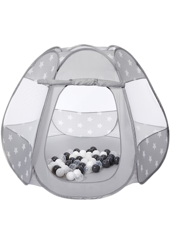Knorrtoys® Bällebad »Bellox, Grey white stars«, mit 50 Bällen kaufen