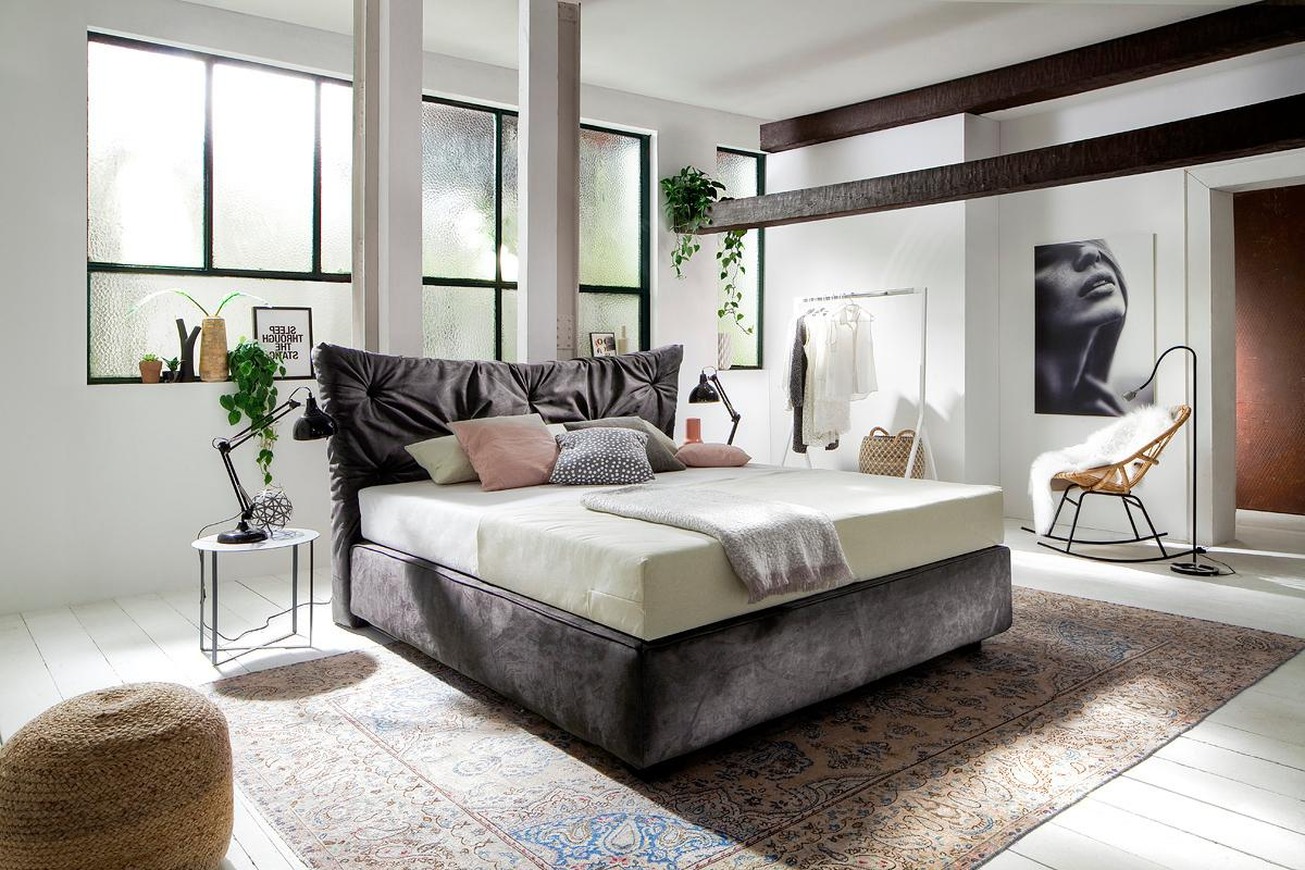 Places Of Style Boxspringbett »Eike«, auch in Kombination H2/H3 | Schlafzimmer > Betten > Boxspringbetten | Stoff | PLACES OF STYLE