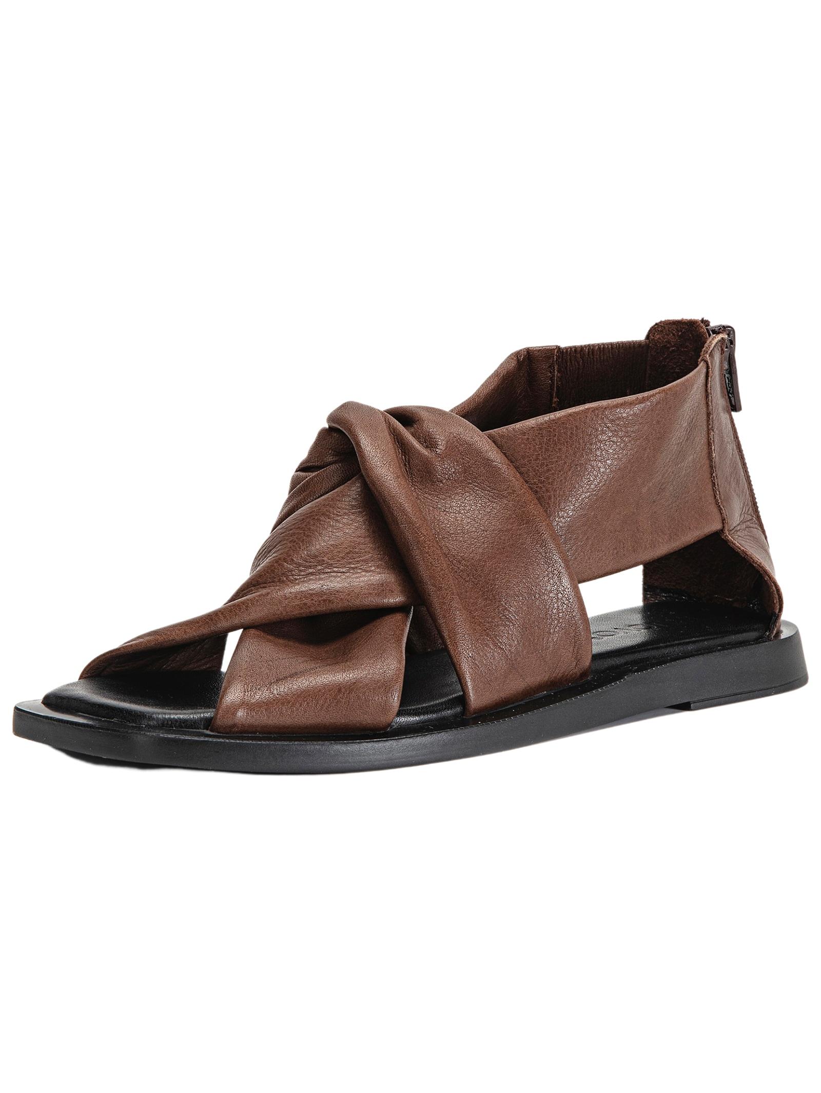 INUOVO Schaftsandalette Leder braun Damen Sandaletten Sandalen