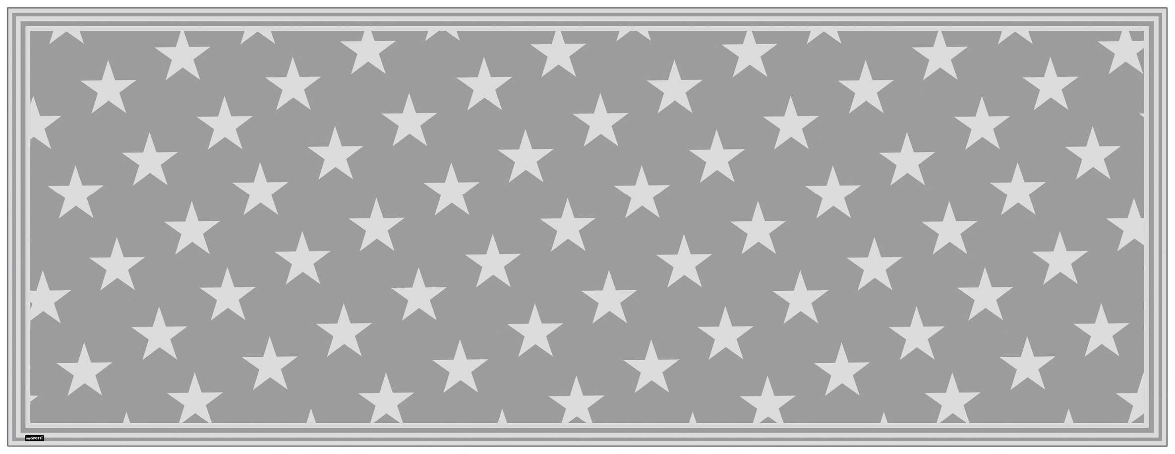 MYSPOTTI Packung: Vinylteppich Buddy Mini Star Grey, statisch haftend | Garten > Bodenbeläge-Garten | Myspotti