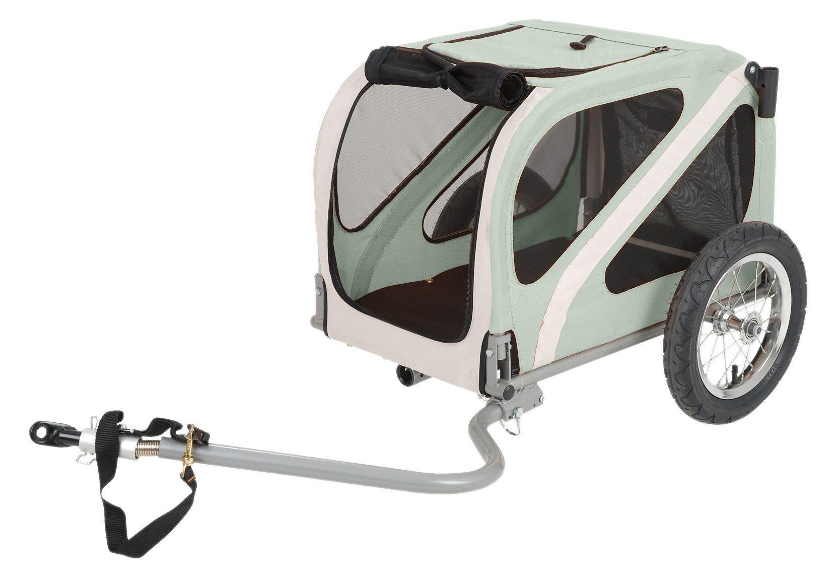 Blue Bird Fahrradhundeanhänger grau Rad-Ausrüstung Radsport Sportarten Fahrradanhänger